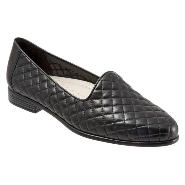 Liz Black Quilted Embossed